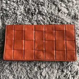 Wine Leather Clutch